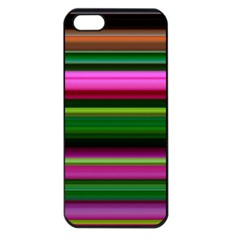 Multi Colored Stripes Background Wallpaper Apple Iphone 5 Seamless Case (black)