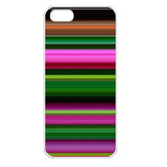 Multi Colored Stripes Background Wallpaper Apple Iphone 5 Seamless Case (white)