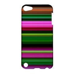 Multi Colored Stripes Background Wallpaper Apple Ipod Touch 5 Hardshell Case