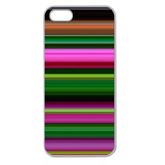 Multi Colored Stripes Background Wallpaper Apple Seamless Iphone 5 Case (clear)