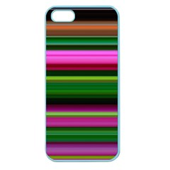 Multi Colored Stripes Background Wallpaper Apple Seamless iPhone 5 Case (Color)