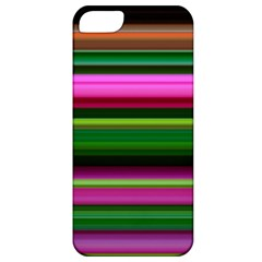 Multi Colored Stripes Background Wallpaper Apple iPhone 5 Classic Hardshell Case