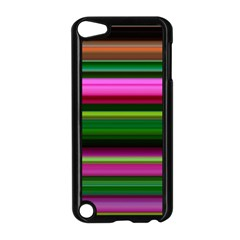 Multi Colored Stripes Background Wallpaper Apple Ipod Touch 5 Case (black)