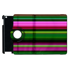 Multi Colored Stripes Background Wallpaper Apple iPad 2 Flip 360 Case