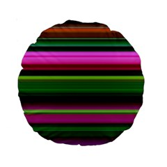 Multi Colored Stripes Background Wallpaper Standard 15  Premium Round Cushions