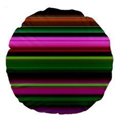 Multi Colored Stripes Background Wallpaper Large 18  Premium Round Cushions