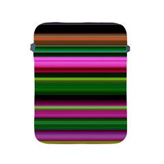 Multi Colored Stripes Background Wallpaper Apple iPad 2/3/4 Protective Soft Cases