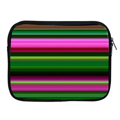 Multi Colored Stripes Background Wallpaper Apple iPad 2/3/4 Zipper Cases