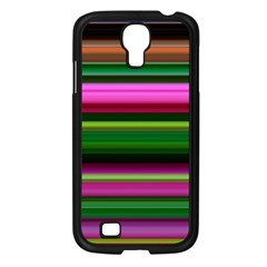 Multi Colored Stripes Background Wallpaper Samsung Galaxy S4 I9500/ I9505 Case (black)