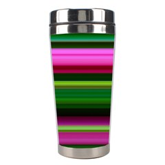 Multi Colored Stripes Background Wallpaper Stainless Steel Travel Tumblers
