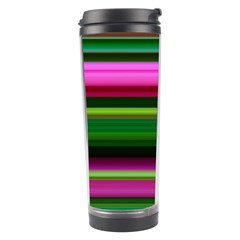 Multi Colored Stripes Background Wallpaper Travel Tumbler