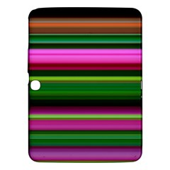 Multi Colored Stripes Background Wallpaper Samsung Galaxy Tab 3 (10 1 ) P5200 Hardshell Case