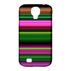 Multi Colored Stripes Background Wallpaper Samsung Galaxy S4 Classic Hardshell Case (PC+Silicone)