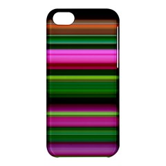 Multi Colored Stripes Background Wallpaper Apple iPhone 5C Hardshell Case