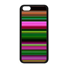 Multi Colored Stripes Background Wallpaper Apple iPhone 5C Seamless Case (Black)
