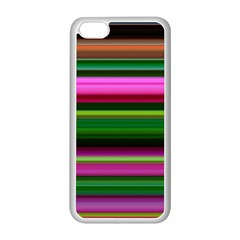 Multi Colored Stripes Background Wallpaper Apple iPhone 5C Seamless Case (White)