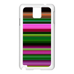 Multi Colored Stripes Background Wallpaper Samsung Galaxy Note 3 N9005 Case (white)