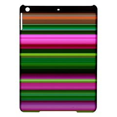 Multi Colored Stripes Background Wallpaper iPad Air Hardshell Cases