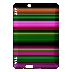 Multi Colored Stripes Background Wallpaper Kindle Fire Hdx Hardshell Case