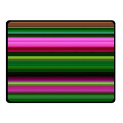 Multi Colored Stripes Background Wallpaper Double Sided Fleece Blanket (Small)