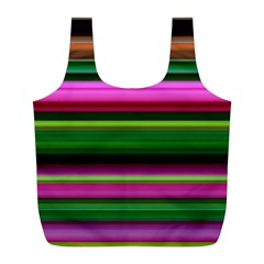 Multi Colored Stripes Background Wallpaper Full Print Recycle Bags (l)