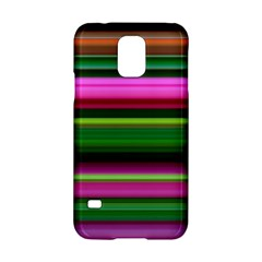 Multi Colored Stripes Background Wallpaper Samsung Galaxy S5 Hardshell Case