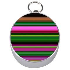 Multi Colored Stripes Background Wallpaper Silver Compasses