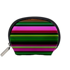 Multi Colored Stripes Background Wallpaper Accessory Pouches (Small)