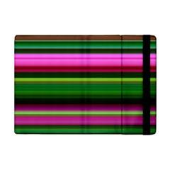 Multi Colored Stripes Background Wallpaper iPad Mini 2 Flip Cases