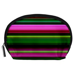 Multi Colored Stripes Background Wallpaper Accessory Pouches (Large)