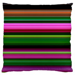 Multi Colored Stripes Background Wallpaper Large Flano Cushion Case (Two Sides)