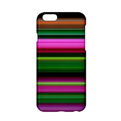 Multi Colored Stripes Background Wallpaper Apple iPhone 6/6S Hardshell Case