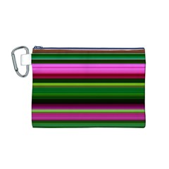 Multi Colored Stripes Background Wallpaper Canvas Cosmetic Bag (M)