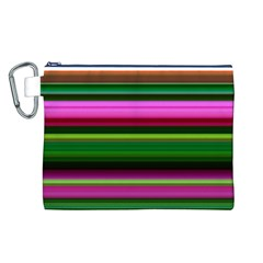 Multi Colored Stripes Background Wallpaper Canvas Cosmetic Bag (L)