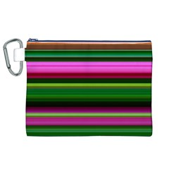 Multi Colored Stripes Background Wallpaper Canvas Cosmetic Bag (XL)