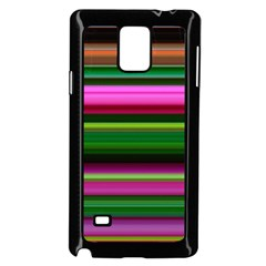 Multi Colored Stripes Background Wallpaper Samsung Galaxy Note 4 Case (Black)