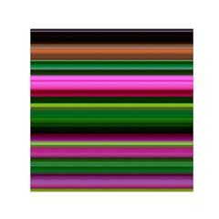 Multi Colored Stripes Background Wallpaper Small Satin Scarf (Square)