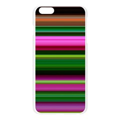 Multi Colored Stripes Background Wallpaper Apple Seamless iPhone 6 Plus/6S Plus Case (Transparent)