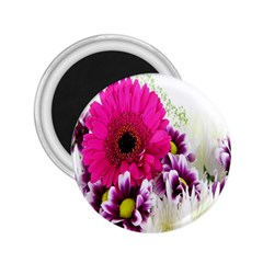 Pink Purple And White Flower Bouquet 2 25  Magnets