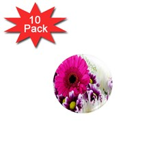 Pink Purple And White Flower Bouquet 1  Mini Magnet (10 pack)