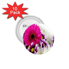 Pink Purple And White Flower Bouquet 1 75  Buttons (10 Pack)