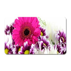 Pink Purple And White Flower Bouquet Magnet (rectangular)