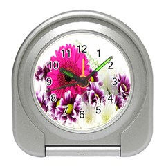 Pink Purple And White Flower Bouquet Travel Alarm Clocks