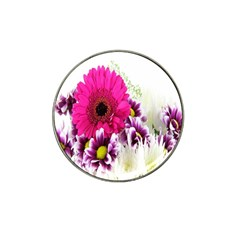 Pink Purple And White Flower Bouquet Hat Clip Ball Marker (10 Pack)