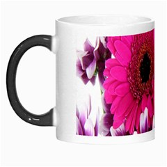 Pink Purple And White Flower Bouquet Morph Mugs