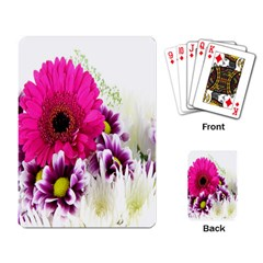 Pink Purple And White Flower Bouquet Playing Card