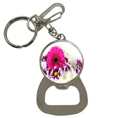 Pink Purple And White Flower Bouquet Button Necklaces