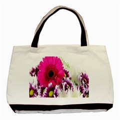 Pink Purple And White Flower Bouquet Basic Tote Bag