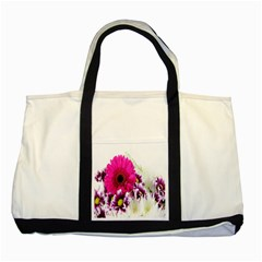 Pink Purple And White Flower Bouquet Two Tone Tote Bag