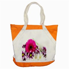 Pink Purple And White Flower Bouquet Accent Tote Bag